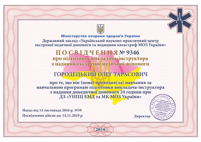 Certificate HorodetskyiO